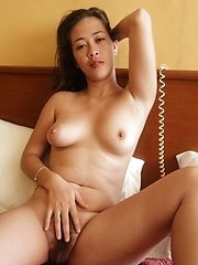 Half-white Filipina with hairy pussy savors white cock